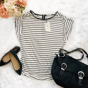 🌸 Zara Striped Short Sleeved Top M